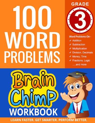 100 Word Problems : Grade 3 Math Workbook | Brainchimp