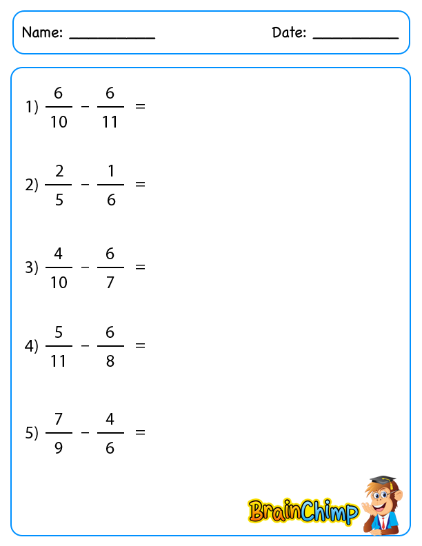 2 Fraction Subtraction