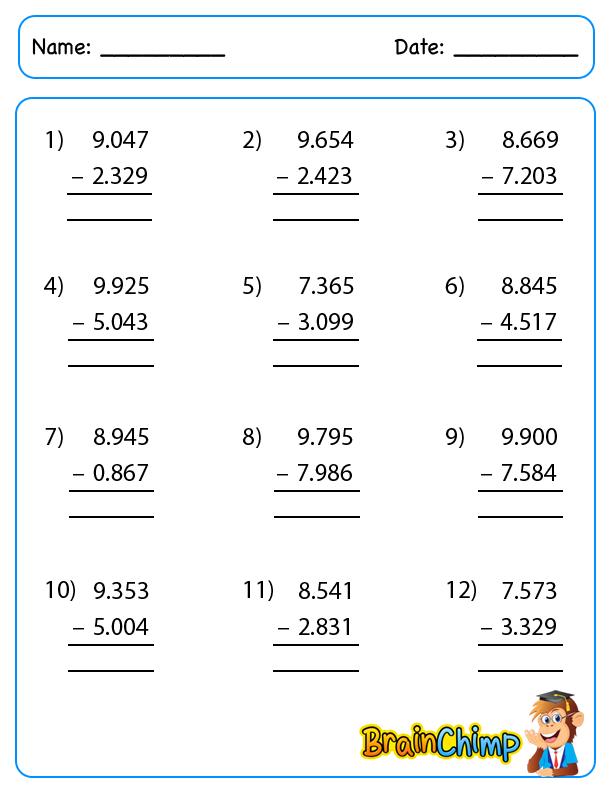 Decimal_Long_Subtraction