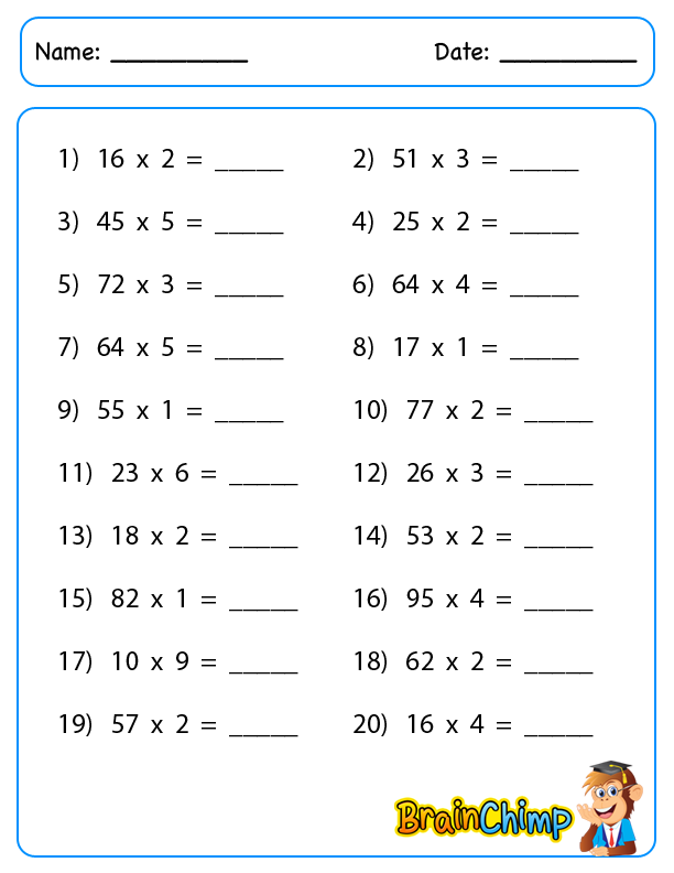 worksheet_2 Digit Multiplication_regroup_2