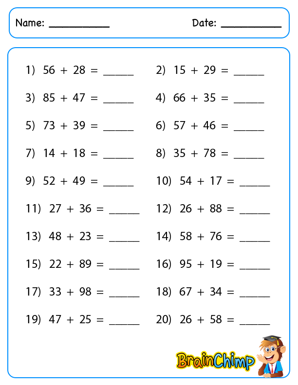 worksheet_2 Digit Addition_regroup_2