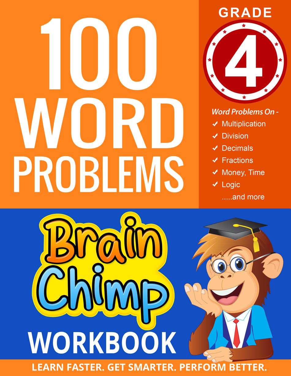 "100 Word Problems : Grade 4 Math Workbook. """